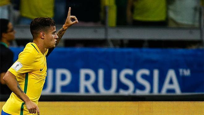 Los 7 goles de Coutinho con la camiseta de Brasil