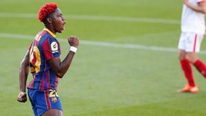 Oshoala es una pieza clave en el FC Barcelona