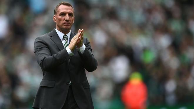 Rodgers durante un partido con el Celtic