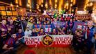 Encuentro internacional de peñas barcelonistas en un desplazamiento de Champions