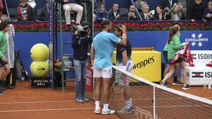 El abrazo entre Nadal y Ferrer hoy
