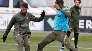 El Atlético de Madrid prepara su próximo duelo ante el Cádiz