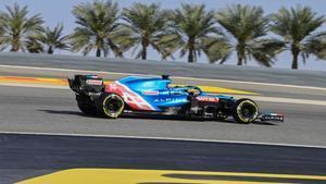 Alonso, en el GP de Baréin