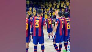 Así fue la celebración del Barça en Palma