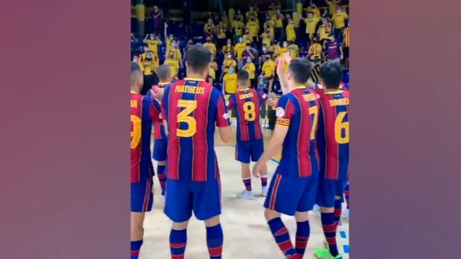 Así fue la celebración del Barça ante Palma