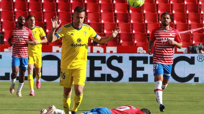 Juan Cala, durante un partido de Liga esta temporada.