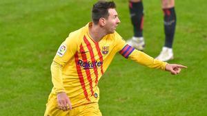 Messi alcanza al pichichi con su segundo tanto ante el Athletic Club
