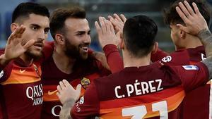 Borja Mayoral marcó un doblete para la Roma contra el Spezia