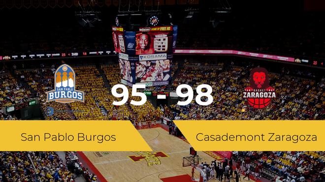 El Casademont Zaragoza consigue vencer al San Pablo Burgos (95-98)