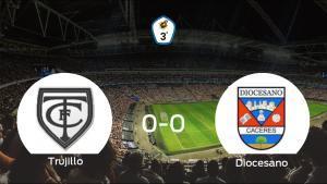 El Trujillo y el CD Diocesano no encuentran el gol y se reparten los puntos (0-0)