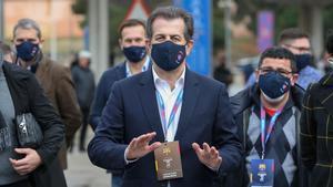 Toni Freixa, durante las elecciones