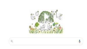 Google le dedica su doodle al Día de la Tierra