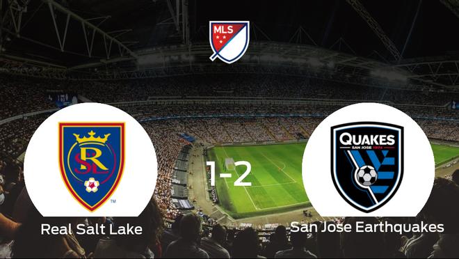 El San Jose Earthquakes se lleva tres puntos después de ganar 1-2 al Real Salt Lake