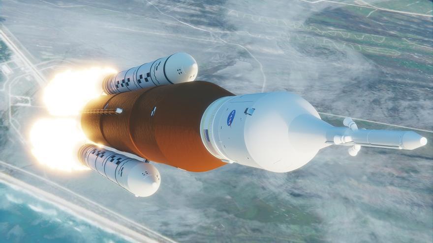 Falla una de las pruebas del cohete SLS con el que la NASA quiere volver a poner los pies en la Luna