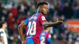 Ansu Fati ligará su futuro al Barça con una cláusula milmillonaria