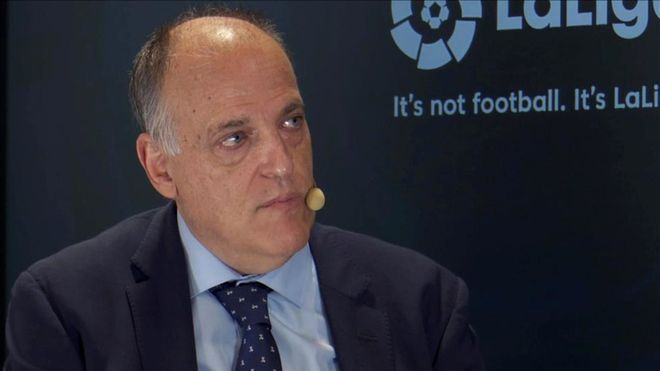 Javier Tebas, presidente de la Liga de Fútbol Profesional
