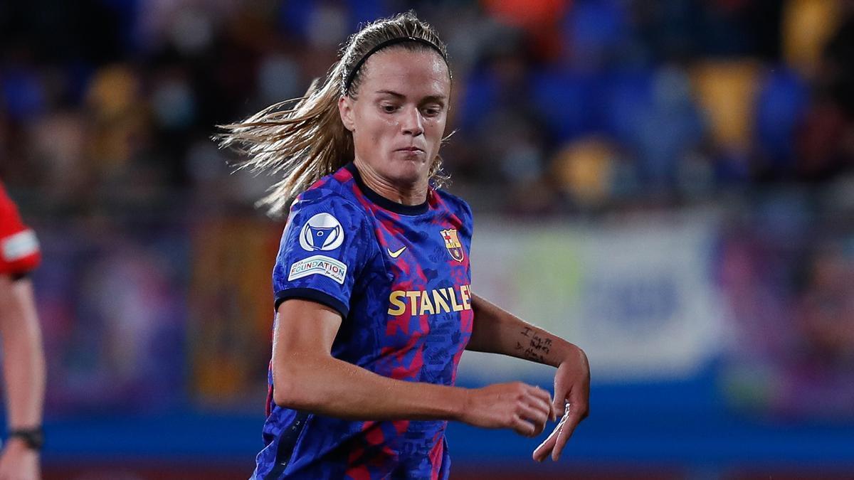Irene Paredes en el partido de Champions contra el Arsenal