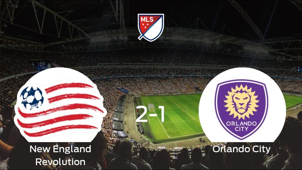 El New England Revolution gana por 2-1 al Orlando City