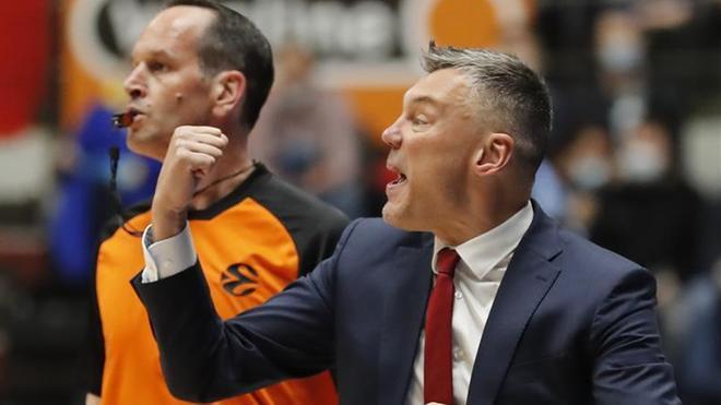 Saras, durante el tercer partido ante el Zenit
