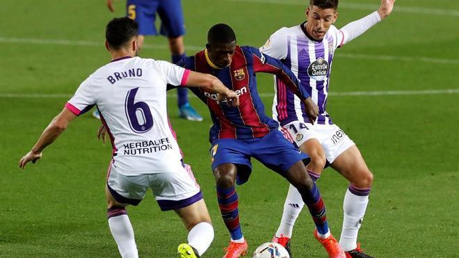 El 1x1 del Barça ante el Valladolid al descanso