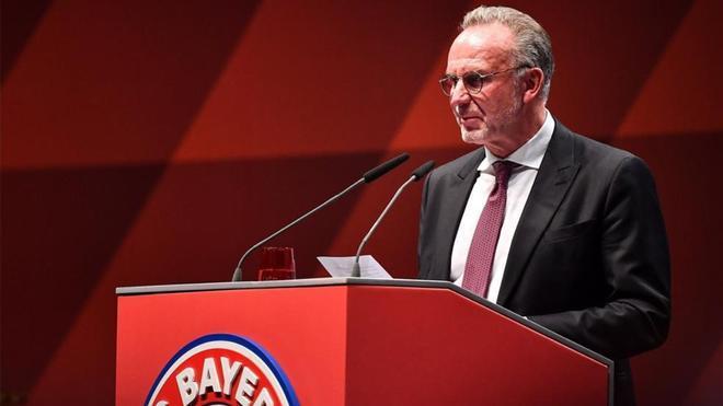 Karl-Heinz Rummenigge, director general del Bayern de Múnich.