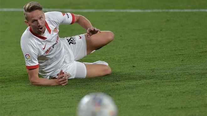 Luuk de Jong, durante el partido entre Athletic y Sevilla este lunes.