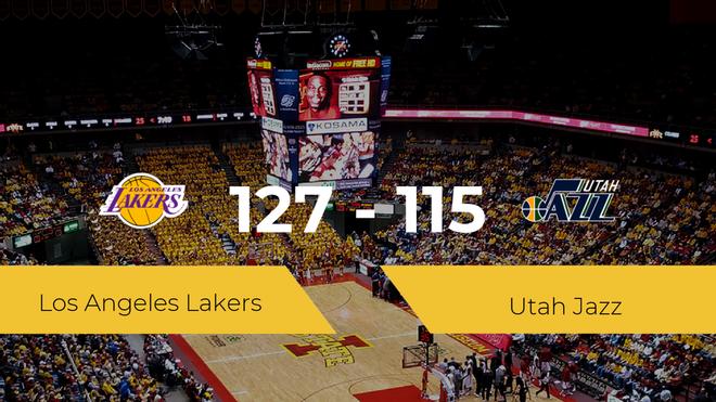 Los Angeles Lakers se impone por 127-115 frente a Utah Jazz