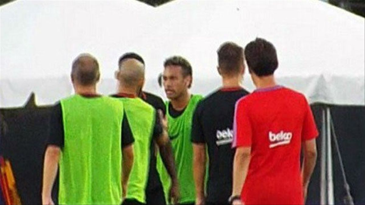 Así fue la trifulca entre Neymar y Semedo