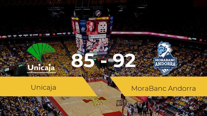 Triunfo del MoraBanc Andorra ante el Unicaja por 85-92
