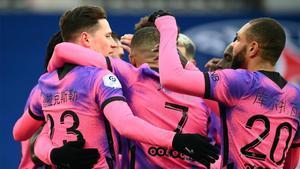 El PSG celebra el gol de Draxler ante el Niza