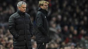 Mourinho y Klopp, de nuevo frente a frente