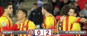 El Barça pudo celebrar un nuevo triunfo en Getafe y el pase a cuarto de la Copa, pero con el alto precio de la lesión de Neymar