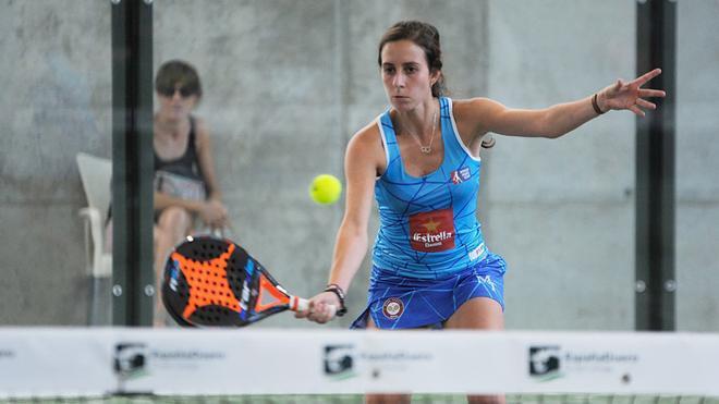 Marta Talaván, en uno de los partidos de dieciséisavos de final