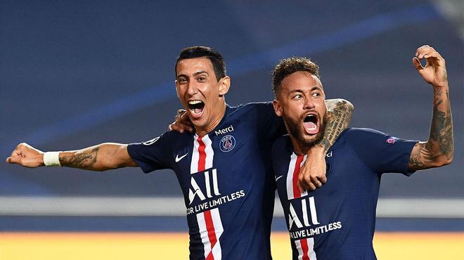 Neymar y Di María formaron una conexión letal en el segundo del PSG