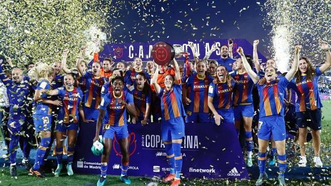 Así celebró el FC Barcelona su histórico triplete