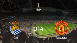 El Manchester United arrolla a la Real Sociedad en la primera eliminatoria de dieciseisavos de final (0-4)