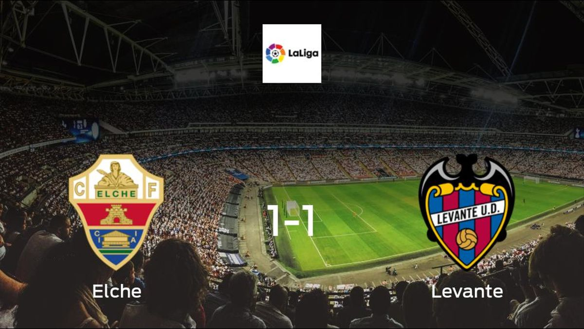 Elche fail to take all three points, after 1-1 draw with Levante