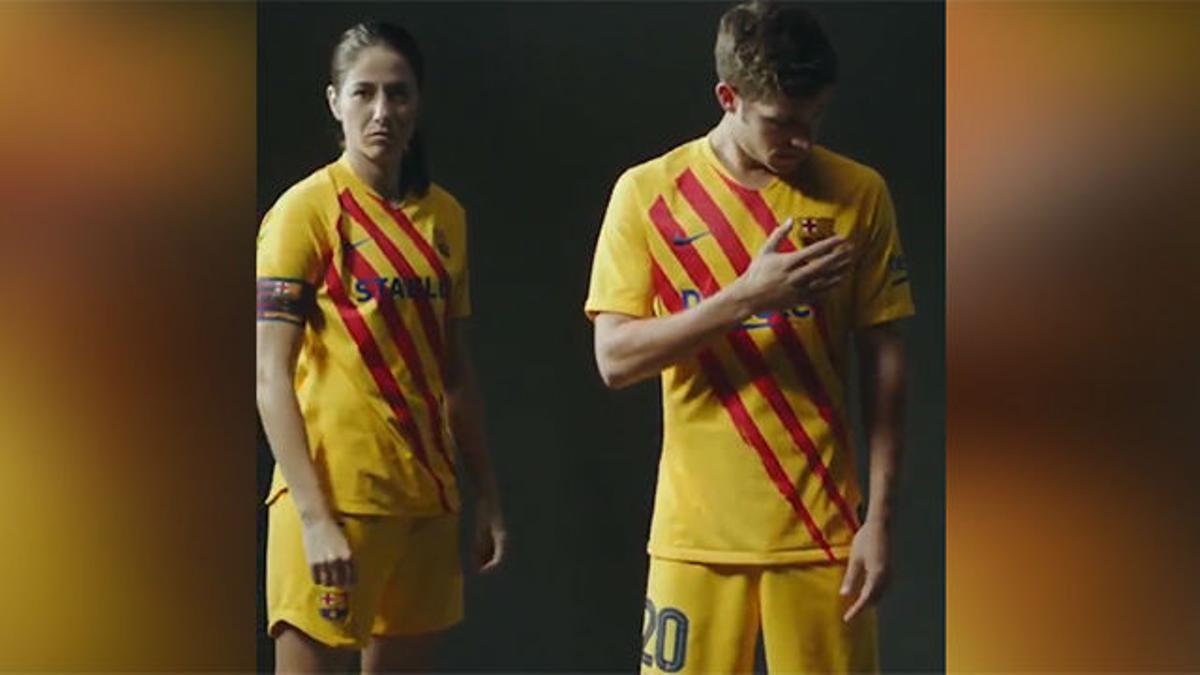 El Barça presenta su nueva camiseta: homenaje a sus raíces con la senyera como protagonista