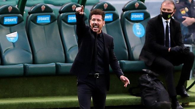 """Simeone: """"Cada victoria es un paso importantísimo"""""""