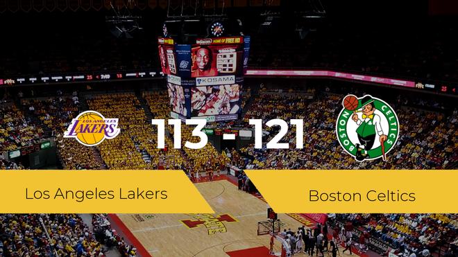 Boston Celtics se hace con la victoria contra Los Angeles Lakers por 113-121