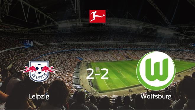 El VfL Wolfsburg logra un empate ante el RB Leipzig (2-2)