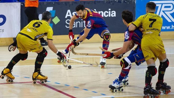 Imagen del duelo de OK Liga entre Barça y Noia