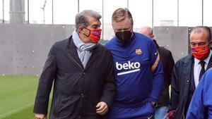 Así ha sido el primer día de Laporta en la Ciudad Deportiva del Barça