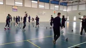 El Barça se entrenó en Mutxamel para prepara el partido de cuartos