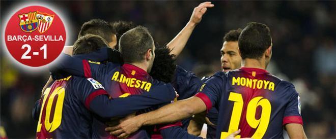 El Barça consiguió tres puntos fundamentales pese a un partido en el que le costó hacer su fútbol