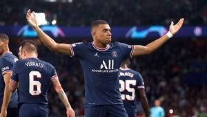 Mbappé abrió el camino del triunfo del PSG ante el RB Leipzig