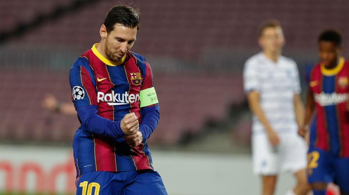 Messi adelantó al Barça de penalti