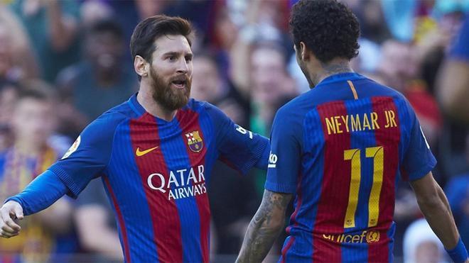 Neymar y Messi, en su etapa juntos en el Barça