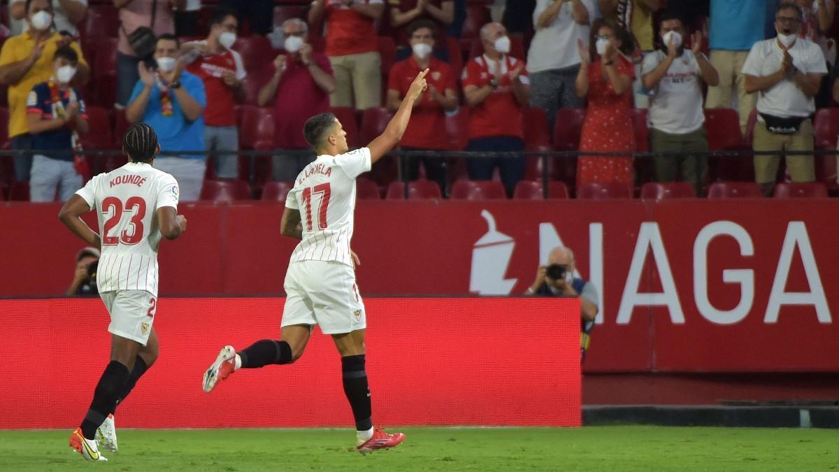Lamela celebrando un gol