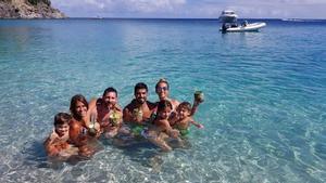 Messi y Suárez, en el mar